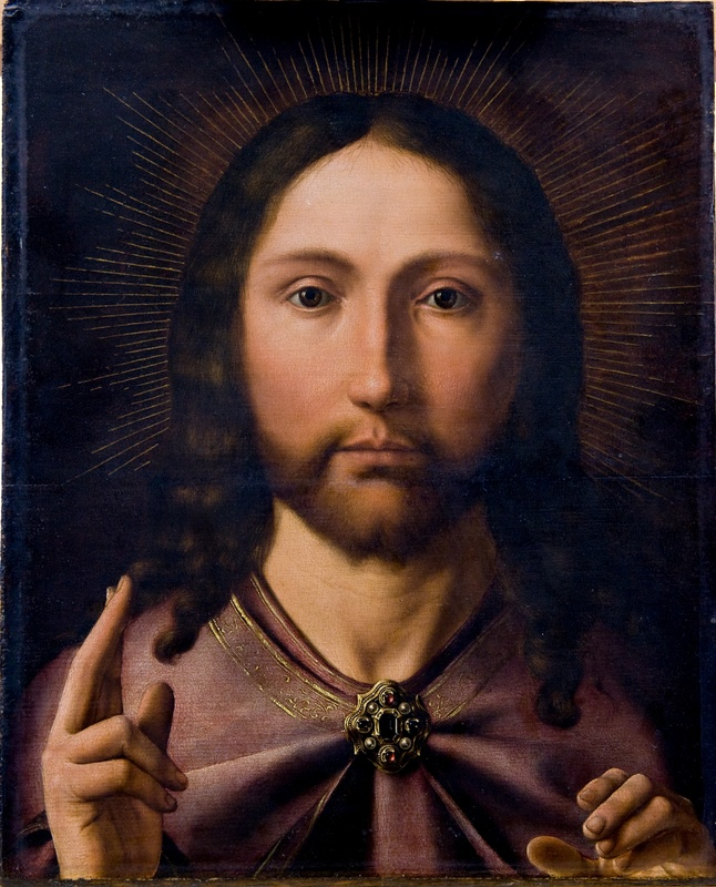 2. The left half - Christ Blessing