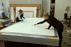 Lining Prep on Large Treatment Table